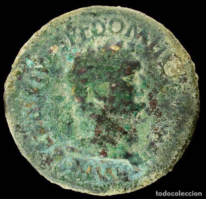 Monedas Imperio Romano: Sestercio de Domiciano - TR P COS VII DES VIII PP - 35 mm / 26.22 gr. - Foto 2 - 236542565