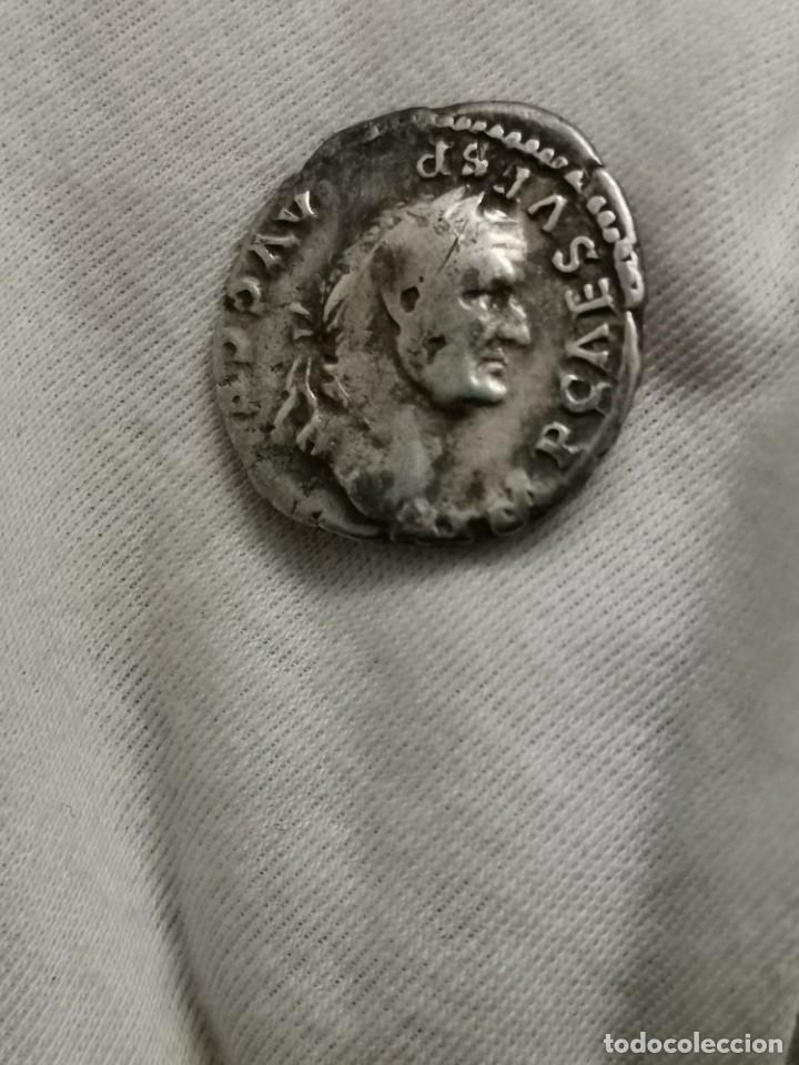 DENARIO DE VESPASIANO, PONTIF MAXIM. (73 D.C.) (Numismática - Periodo Antiguo - Roma Imperio)