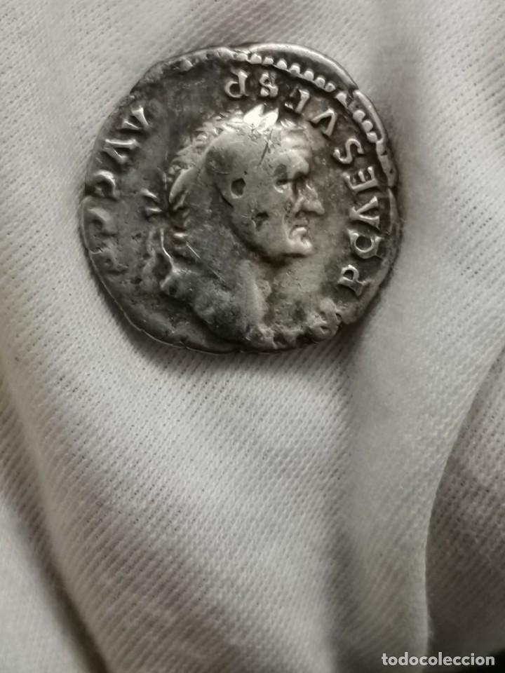 Monedas Imperio Romano: Denario de Vespasiano, PONTIF MAXIM. (73 d.c.) - Foto 3 - 237023175