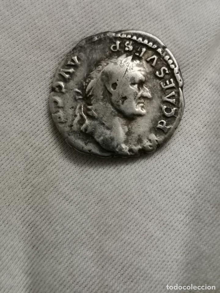 Monedas Imperio Romano: Denario de Vespasiano, PONTIF MAXIM. (73 d.c.) - Foto 5 - 237023175