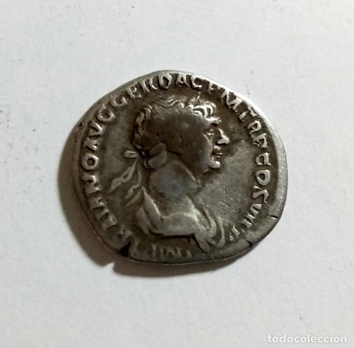 AUTENTICO DENARIO ROMANO DE PLATA AÑO 112/114 D.C. (Numismática - Periodo Antiguo - Roma Imperio)