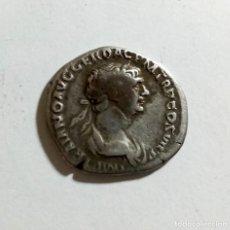 Monedas Imperio Romano: AUTENTICO DENARIO ROMANO DE PLATA AÑO 112/114 D.C.. Lote 237117440