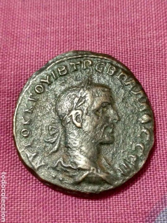 BONITO TETRADRACMA DE TREBONIANO GALO (251-253 D.C.) CECA: ANTIOCHIA SEABY 4349 (Numismática - Periodo Antiguo - Roma Imperio)