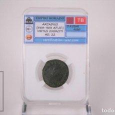Monedas Imperio Romano: MONEDA IMPERIO ROMANO ARCADIO - VIRTUS EXERCITI - CERTIFICACION WAC - EN SLAB. Lote 241718045