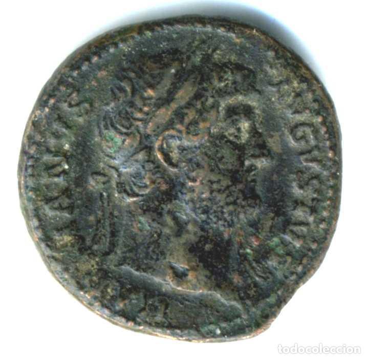 XS- ADRIANO (117-138 DC) AS SALVS AVGVSTI COS III (Numismática - Periodo Antiguo - Roma Imperio)