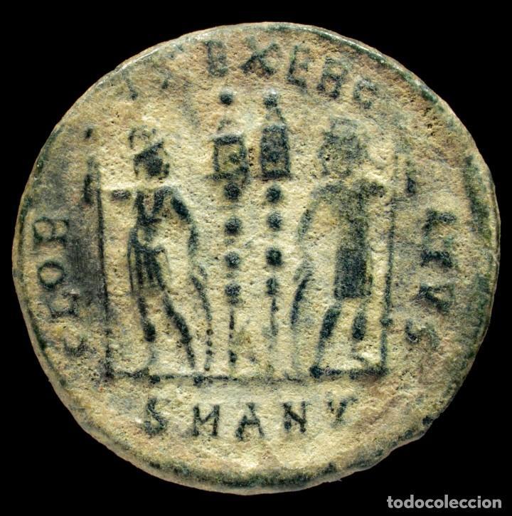 Monedas Imperio Romano: Constantino II - GLORIA EXERCITVS, Antioquia - 18 mm / 2.01 gr. - Foto 2 - 245982300