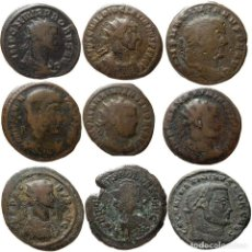 Monedas Imperio Romano: CURIOSO LOTE DE NUEVE MONEDAS DE ÉPOCA ROMANA. L. Lote 246185815