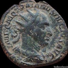 Monedas Imperio Romano: RARO DUPONDIO DE TRAJANO DECIO. Lote 246244695