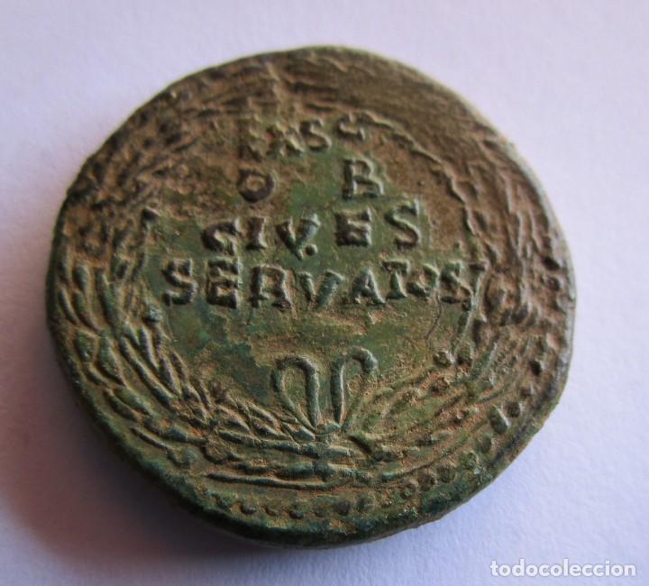 Monedas Imperio Romano: CLAUDIO . IMPRESIONANTE SESTERCIO DE BRONCE. 100 X 100 ORIGINAL GARANTIZADO - Foto 4 - 252259690