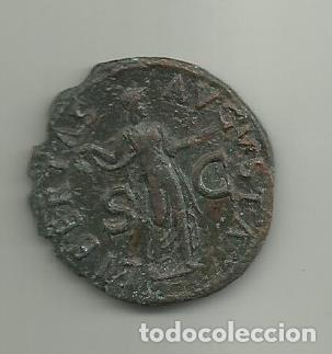 Monedas Imperio Romano: Muy Bonito As de Claudio Emperador de 41 al 54 D.C. - Foto 2 - 254085405