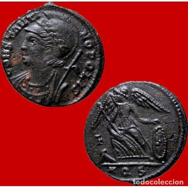 Monedas Imperio Romano: Constantinopolis Follis conmemorativo Victoria en Proa F / AQS - Foto 3 - 254170575