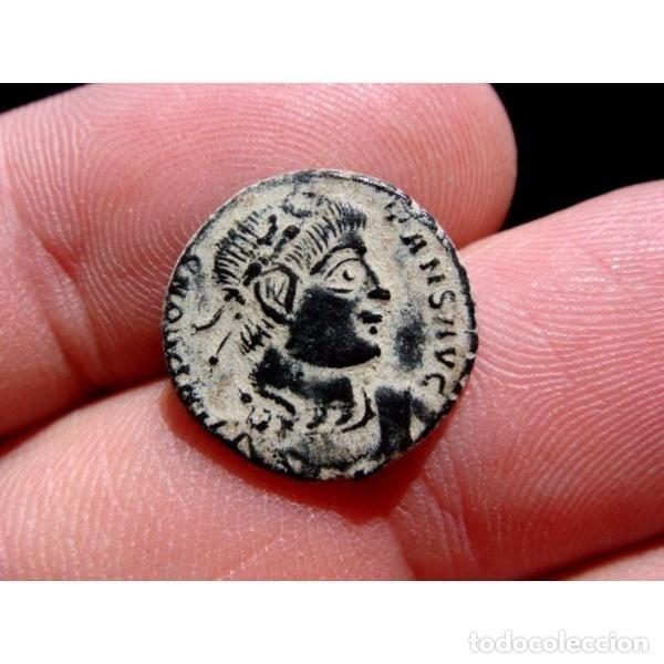 Monedas Imperio Romano: Constante - Follis. Arles. GLORIA EXERCITVS Crcciente en banner - Foto 6 - 254172065
