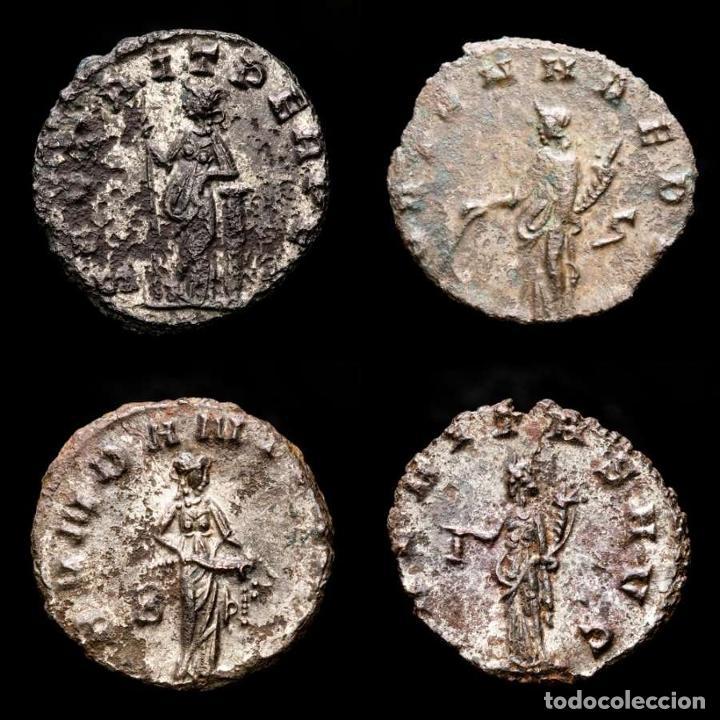 Monedas Imperio Romano: Lote de cuatro Galienos. AE Antoninianos. Varios reversos (143L) - Foto 2 - 254175450