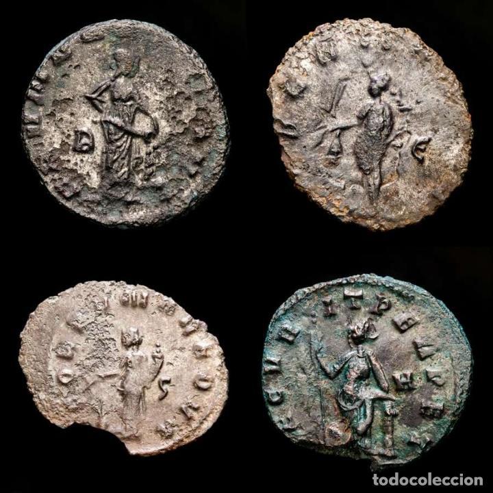 Monedas Imperio Romano: Lote de cuatro Galienos. AE Antoninianos. Varios reversos - Foto 2 - 254176505