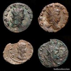 Monedas Imperio Romano: LOTE DE CUATRO GALIENOS. AE ANTONINIANOS. VARIOS REVERSOS. Lote 254176505