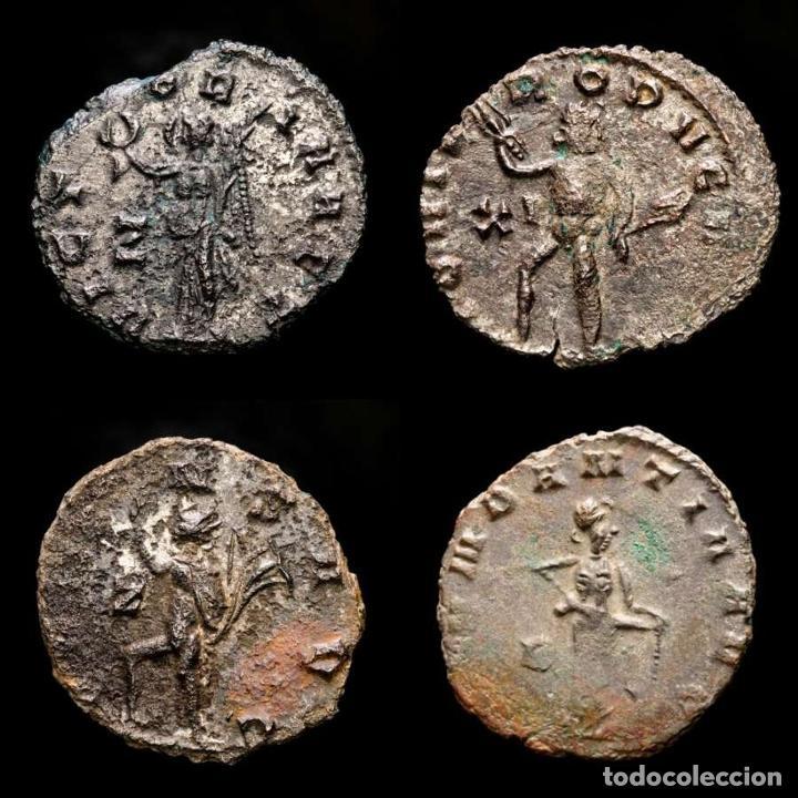 Monedas Imperio Romano: Lote de cuatro Galienos. AE Antoninianos. Varios reversos - Foto 2 - 254177405