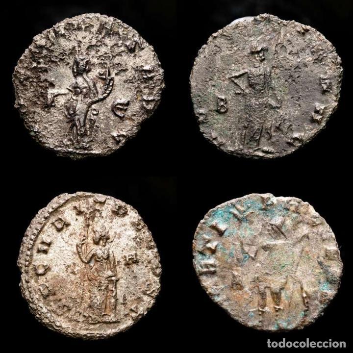 Monedas Imperio Romano: Lote de cuatro Galienos. AE Antoninianos. Varios reversos - Foto 2 - 254177855