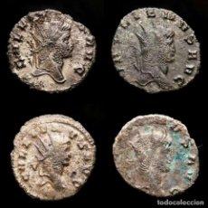 Monedas Imperio Romano: LOTE DE CUATRO GALIENOS. AE ANTONINIANOS. VARIOS REVERSOS. Lote 254177855