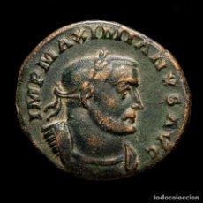 Monedas Imperio Romano: MAXIMIANO (286-305 DC.) FOLLIS DE LUGDUNUM - GENIO ALTAR - ✩ / PLG. Lote 254954105