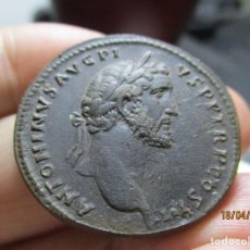 Monedas Imperio Romano: SESTERCIO DE ANTONIO PIO. MAGNIFICA PATINA. Lote 255476835