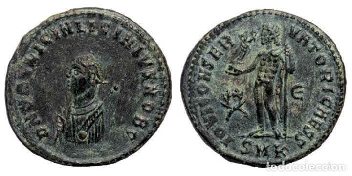 LICINIO II (CÉSAR, 317-324 D.C.) AE20 MENTA FOLLIS CYZICUS, QUINTA OFICIA. GOLPEADO EN 317-320 D.C. (Numismática - Periodo Antiguo - Roma Imperio)