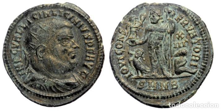 LICINIO I (308-324) AE19 FOLLIS, MENTA HERACLEA,. IMP C VAL LICINIVS LICINIVS PF AVG BUSTO DE LICINI (Numismática - Periodo Antiguo - Roma Imperio)