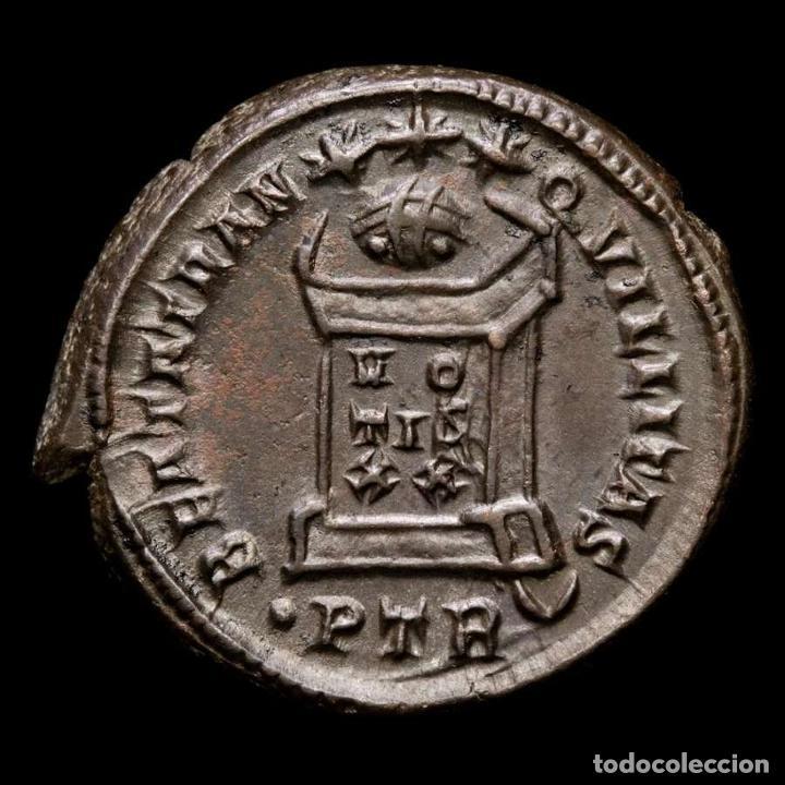 Monedas Imperio Romano: Raro Busto Constantino II, follis Trier BEATA TRANQVILLITAS / •PTR◡ - Foto 2 - 257402940