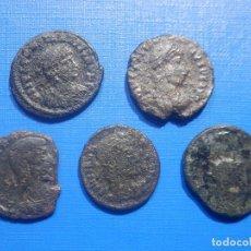 Monedas Imperio Romano: LOTE DE 5 PEQUEÑOS BRONCES ROMANOS - 18 MM. +/-. Lote 258227910