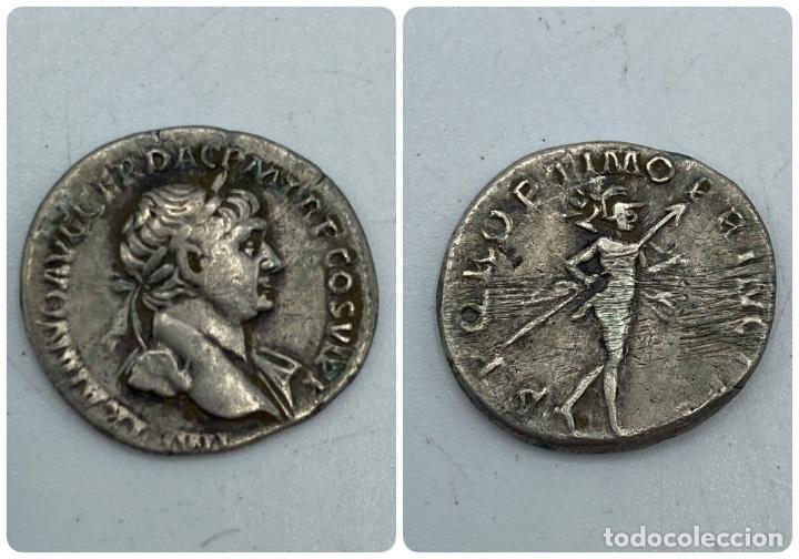 MONEDA. DENARIO DE TRAJANO. REVERSO: MARTE EN MARCHA. VER FOTOS (Numismática - Periodo Antiguo - Roma Imperio)