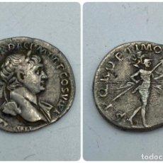 Monedas Imperio Romano: MONEDA. DENARIO DE TRAJANO. REVERSO: MARTE EN MARCHA. VER FOTOS. Lote 260024495