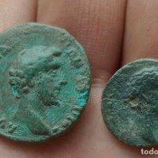 Monedas Imperio Romano: LOTE DE 1 AS Y 1SEMIS DE ANTONINO PÍO.. Lote 262147785