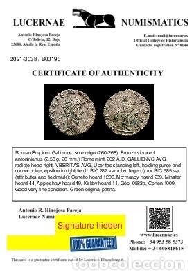 Monedas Imperio Romano: Gallieno 253-268 d.C. Antoniniano, Roma, 262 VBERITAS AVG - Є (190) - Foto 3 - 262365855