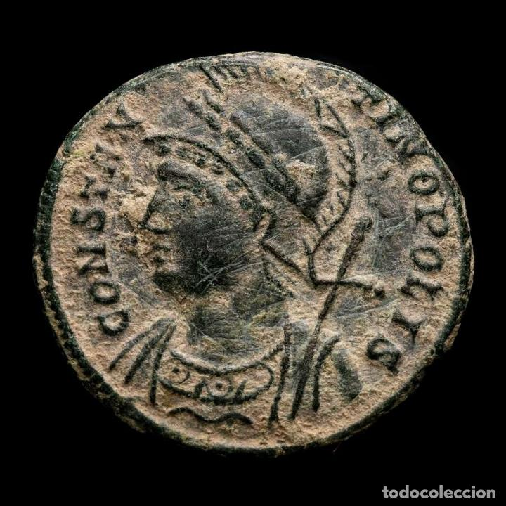 Monedas Imperio Romano: Constantino I, Constantinopolis, conmemorativa.Chi-Rho (☧), Arles - Foto 2 - 262381135