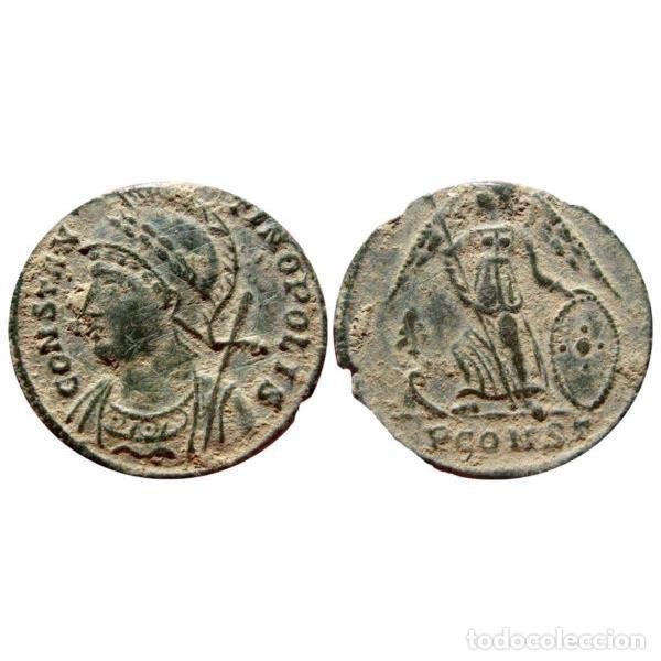Monedas Imperio Romano: Constantino I, Constantinopolis, conmemorativa.Chi-Rho (☧), Arles - Foto 3 - 262381135