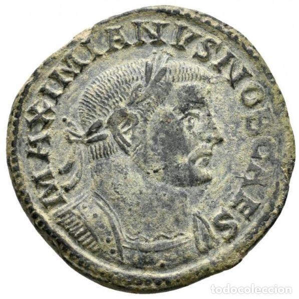 Monedas Imperio Romano: Galerio, Cesar - Follis, Lugdunum, GENIO POPVLI ROMANI - B // PLG - Foto 3 - 262384235