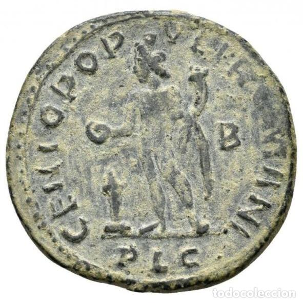 Monedas Imperio Romano: Galerio, Cesar - Follis, Lugdunum, GENIO POPVLI ROMANI - B // PLG - Foto 4 - 262384235