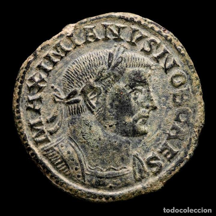 GALERIO, CESAR - FOLLIS, LUGDUNUM, GENIO POPVLI ROMANI - B // PLG (Numismática - Periodo Antiguo - Roma Imperio)