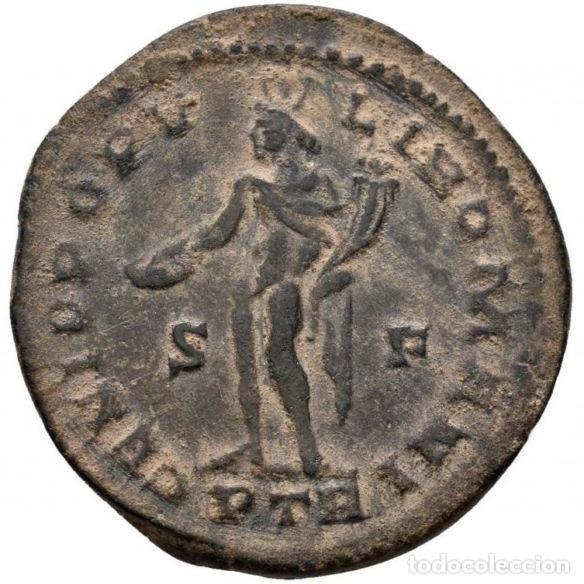 Monedas Imperio Romano: Galerio Cesar - Follis , Trier 303-305 dC., GENIO POPVLI ROMANI - Foto 4 - 262384600