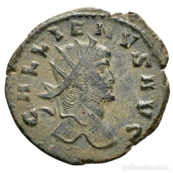 Monedas Imperio Romano: Gallieno - antoniniano. Zoo series. Rome. 267/8. dC. Centauro - Foto 3 - 262385560