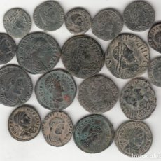 Monedas Imperio Romano: 19 MONEDAS: CONSTANTINO - CRISPO - CONSTANCIO II - CONSTANTE - TEODOSIO - GRACIANO - MAGNO MAXIMO.... Lote 262784150