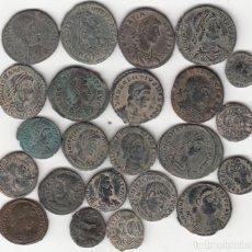 Monedas Imperio Romano: 23 MONEDAS: CONSTANTINO - CONSTANCIO II - CONSTANTE - MAGNENCIO - DECENCIO - TEODOSIO - GRACIANO .... Lote 262791440