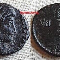 Monedas Imperio Romano: CONSTANTINO I AÑO 347/348. ½ CENTESIMAL PEQUEÑO BRONCE ANTIOQUIA. PESO 2,27 GR.. Lote 263172605