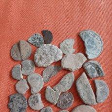Monedas Imperio Romano: (MUNDO Y VARIOS) LOTE DE MONEDAS ROTAS O BAJA CONSERVACIÓN. Lote 264514099