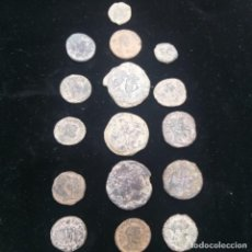 Monedas Imperio Romano: 16 MONEDAS ROMANAS DISTINTOS EMPERADORES. Lote 265330529