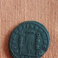 Monedas Imperio Romano: (IMP. ROMANO)(313 D.C) FOLLIS CONTANTINO I MAGNO CECA OSTIA. Lote 265948763