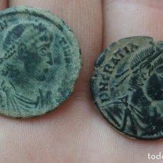 Monedas Imperio Romano: LOTE DE 2 PRECIOSAS MAYORINAS DE GRACIANO Y CONSTANCIO.. Lote 269307173