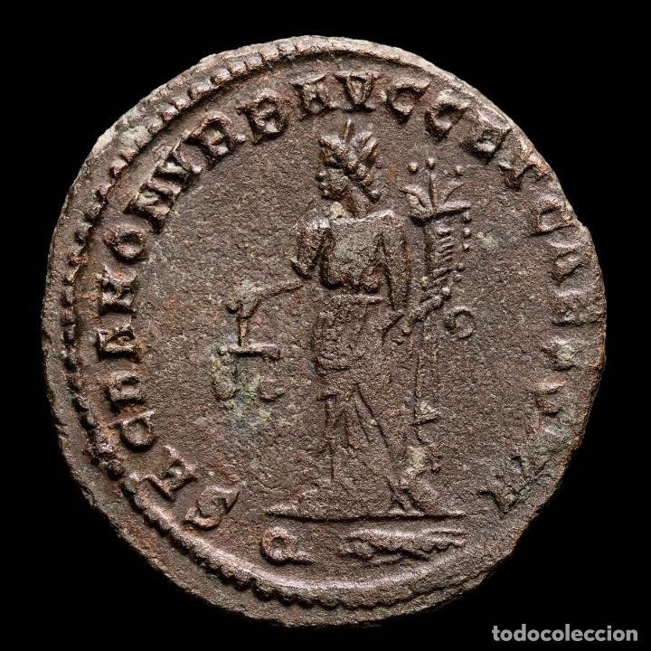 Monedas Imperio Romano: Galerio, Cesar. Æ Follis - Roma SACRA MON VRB // Q Thunderbolt - Foto 2 - 269387743