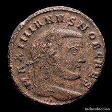 Monedas Imperio Romano: GALERIO, CESAR. Æ FOLLIS - ROMA SACRA MON VRB // Q THUNDERBOLT. Lote 269387743