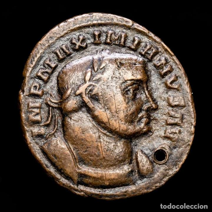 Monedas Imperio Romano: Maximiano Follis. Lugdunum. GENIO POPVLI ROMANI - B / PLG - Foto 2 - 269387863