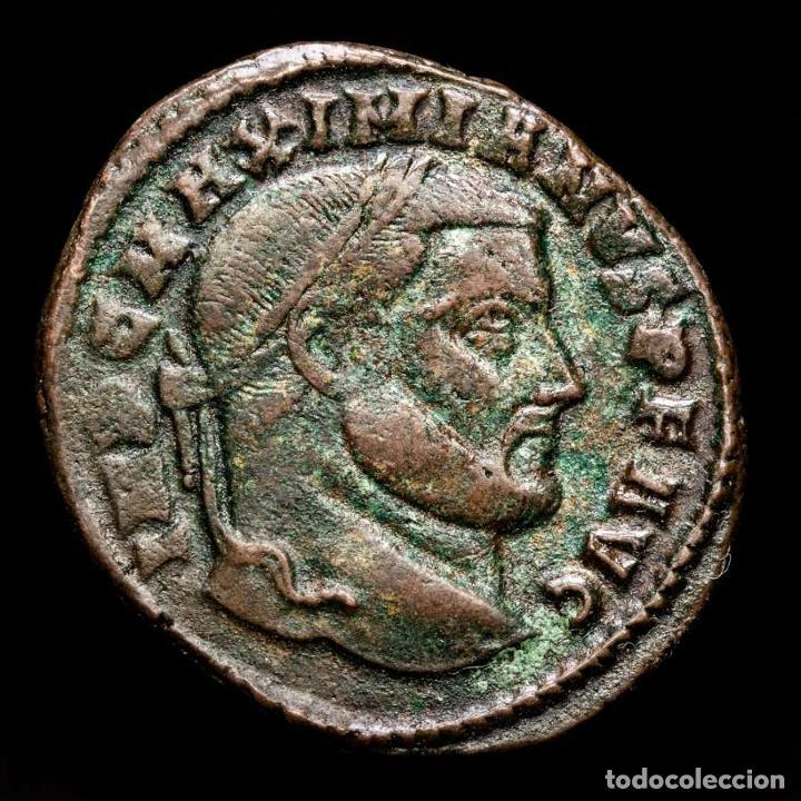 Monedas Imperio Romano: Maximiniano (286-310 dC). Follis, Roma, SAC MON VRB AVGG / RΩP - Foto 2 - 269387983